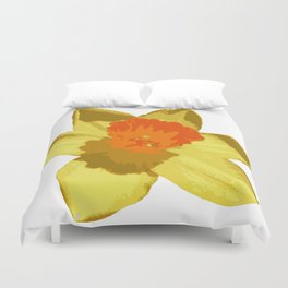 Spring Daffodil Vector Isolated Duvet Cover