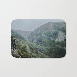 Cheddar Gorge in the Rain Bath Mat