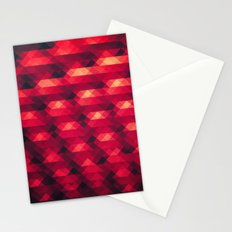 Abstract Color Pattern in Red Stationery Cards