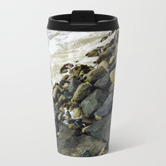 Rocks from a dock Metal Travel Mug