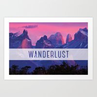 wanderlust Art Prints featuring Wanderlust by snaticky