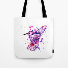 Hummingbird Splatter Tote Bag