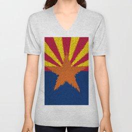 Extruded flag of Arizona Unisex V-Neck