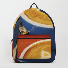 Coffee and Cats-A cat face in a coffee design Backpack