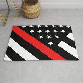 Firefighter: Black Flag & Red Line Rug