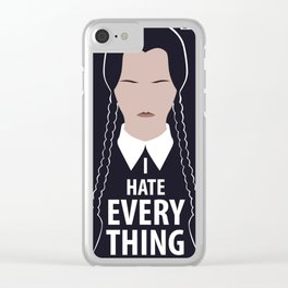 I hate EveryThing Clear iPhone Case