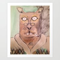 Leisure Squirrel Art Print