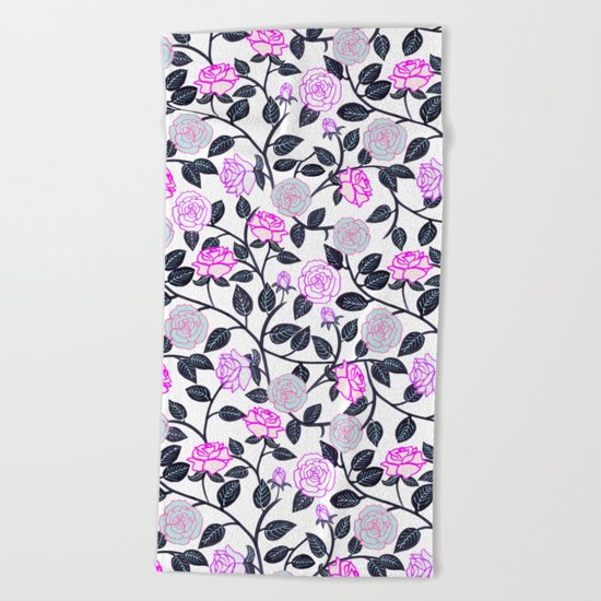 Rose Delight Beach Towel