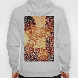 Space Dahlias Golden Bronze Hoody