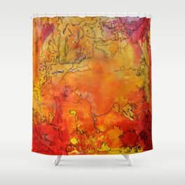Yellow Dreams Shower Curtain