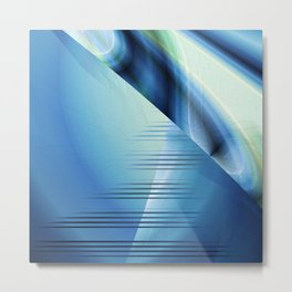 Blue abstract 2016 Metal Print