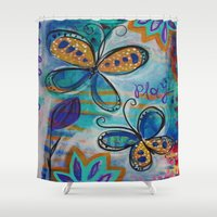 play Shower Curtains featuring play by spinfinite designs