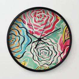 Sassy Flower Painting Wall Clock