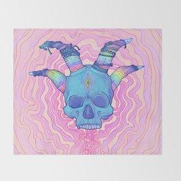 Mana Skull 2 Throw Blanket
