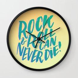 Hey Hey My My II Wall Clock