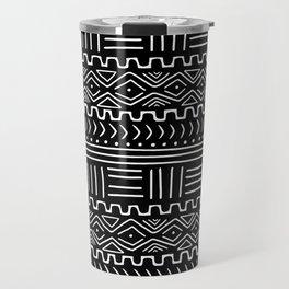 Mud Cloth on Black Travel Mug