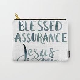 Blessed Assurance Hymn Hand Lettered Carry-All Pouch