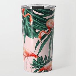 Summer Flamingo Jungle Vibes #1 #tropical #decor #art #society6 Travel Mug