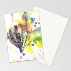 Hot Air Balloon Rising in Color Stationery Cards