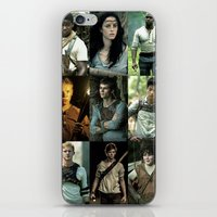maze runner iPhone & iPod Skins featuring The Maze Runner Character's by TK Studios