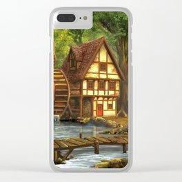 Little Watermill In Idyllic Forest Ultra HD Clear iPhone Case