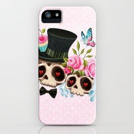 Together Forever - Sugar Skull Bride & Groom iPhone Case