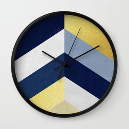 Golden fashion lozenges Wall Clock