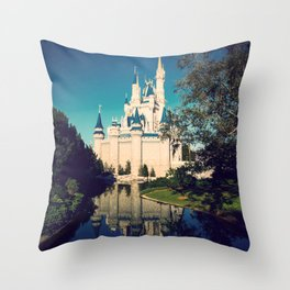 The Disney Castle  Throw Pillow