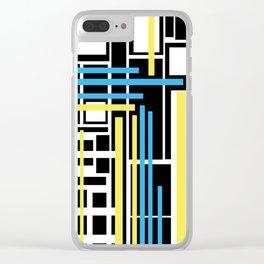 geometric art 1 Clear iPhone Case