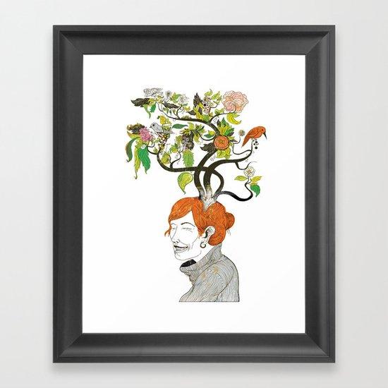 Thinking Green Framed Art Print
