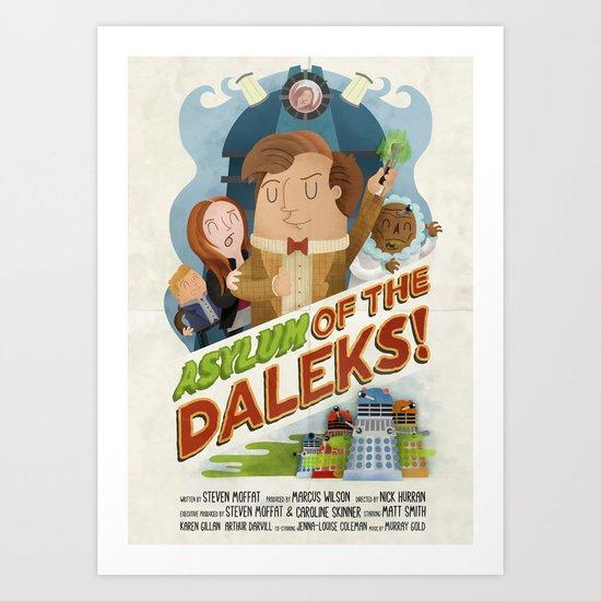 Doctor Who - Asylum of The Daleks!  Art Print