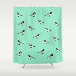 chickadee-dee Shower Curtain