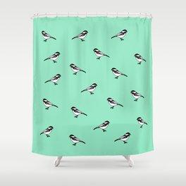 chickadee-dee Shower Curtain
