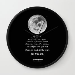 Moon Bridge Shakespeare Wall Clock