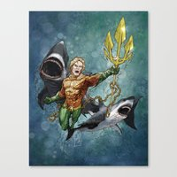 aquaman Canvas Prints featuring Aquaman by Alex Heuchert