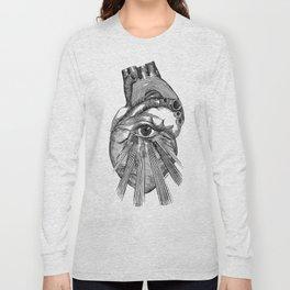 Engraving - Eyed Heart Long Sleeve T-shirt
