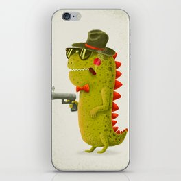Dino bandito (olive) iPhone Skin