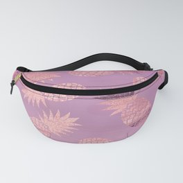 Pretty Pink & Rose Gold Pineapple Pattern Fanny Pack