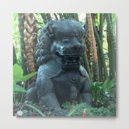 Guardian Lion Photograph Metal Print