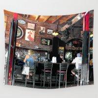 bar Wall Tapestries featuring Bar en plein air by Glenn Designs