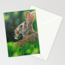 Rabbit Eating Clover Stationery Cards
