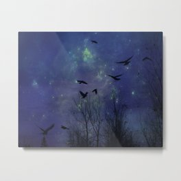 Celestial Night Of Crows Metal Print