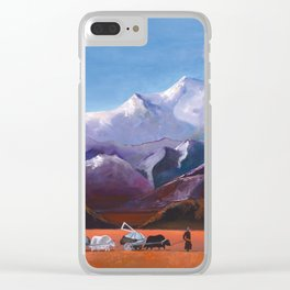 Nomadic Life - Mongolian Steppes Clear iPhone Case