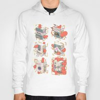cigarettes Hoodies featuring Cigarettes Deluxe by Kensausage