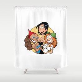 Les Nombrils - Pastille de Karine, Jenny et Vicky Shower Curtain