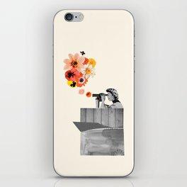 in bloom (black & white) iPhone Skin