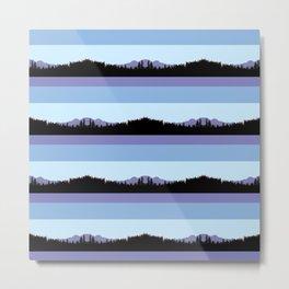 Abstract mountains horizons 2 Metal Print