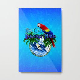 Island Time Surfing Metal Print