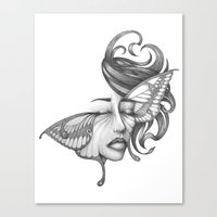 moth Canvas Prints featuring Moth by Tooth & Arrow Co
