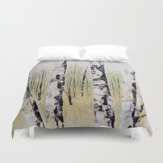 Summer Birch Forest Duvet Cover